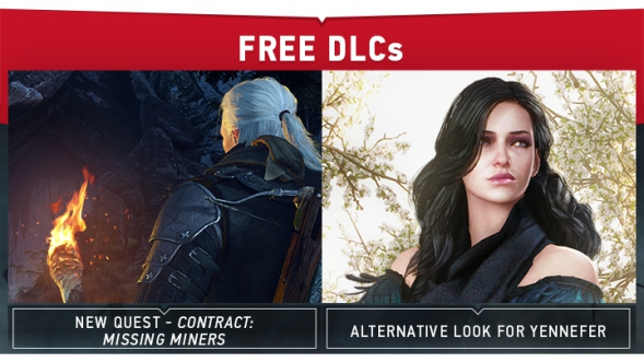Contract Missing Miners And Alternative Look For Yennefer Dlcs Are Now Available Cd Projekt Red