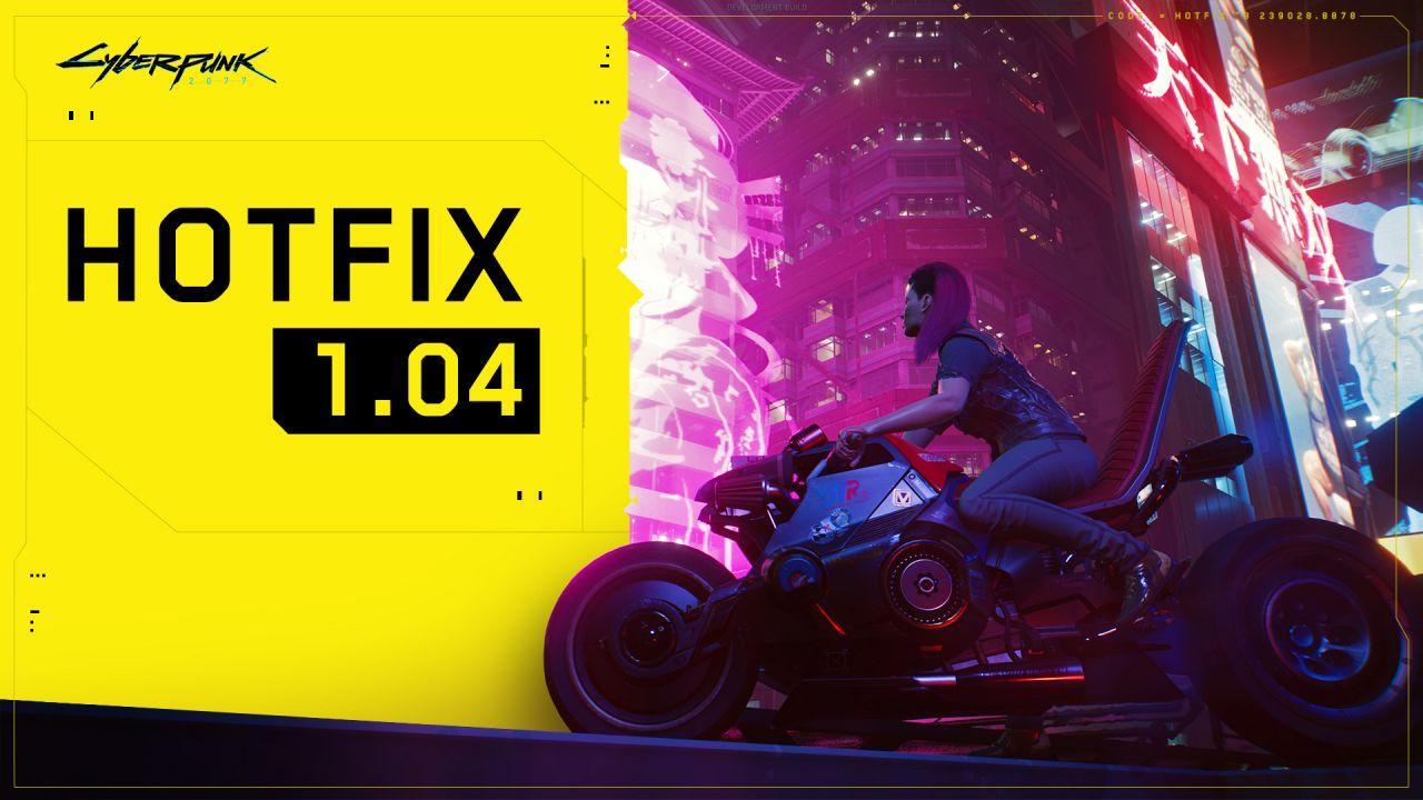 La actualización 1.04 de Cyberpunk 2077 todavía no está disponible para Xbox 1