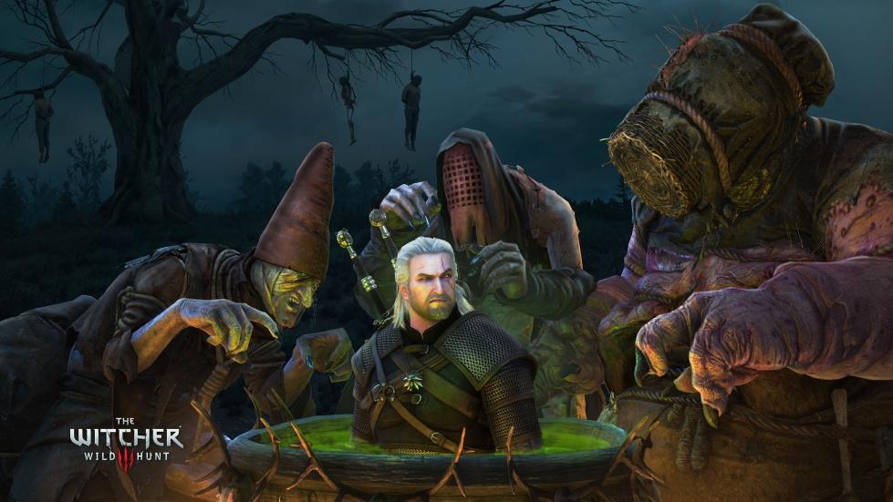 Witcher 3 wallpaper - Crones of Crookback Bog