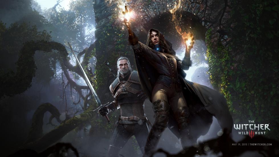 Witcher 3 wallpaper - Geralt and Yennefer