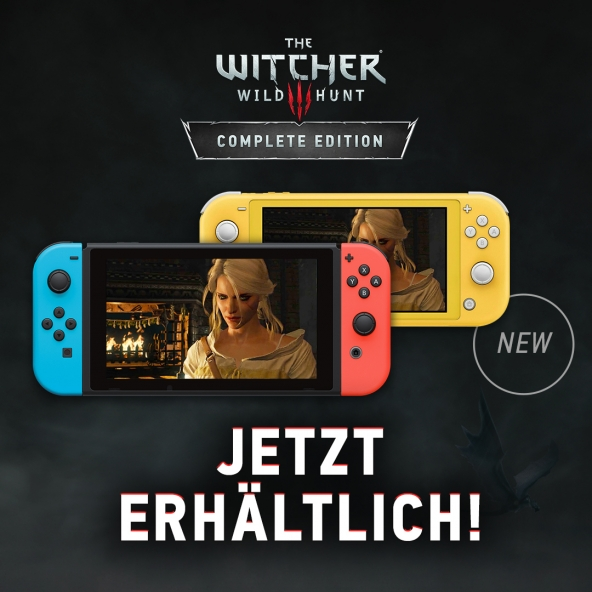 The Witcher 3: Wild Hunt - Complete Edition für Nintendo Switch erhältlich!
