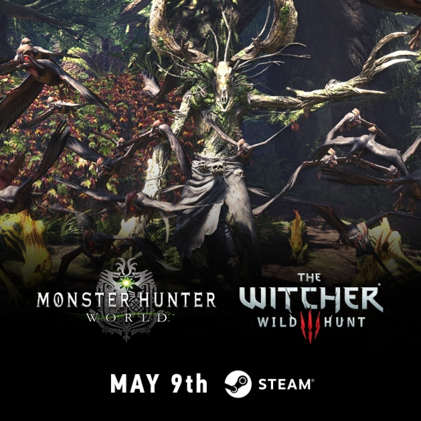 The Witcher and Monster Hunter: World collaboration is coming to Steam on May 9th!