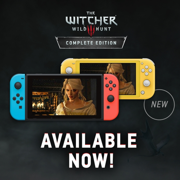 The Witcher 3 out now for Nintendo Switch!
