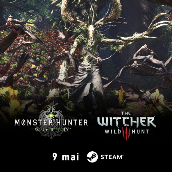 La collaboration entre The Witcher et Monster Hunter: World arrive sur Steam le 9 mai !
