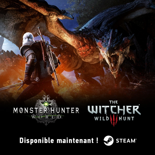 Geralt est désormais disponible sur la version Steam de Monster Hunter: World !