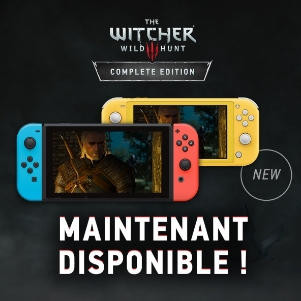 The Witcher 3: Wild Hunt Complete Edition est désormais disponible sur Nintendo Switch !