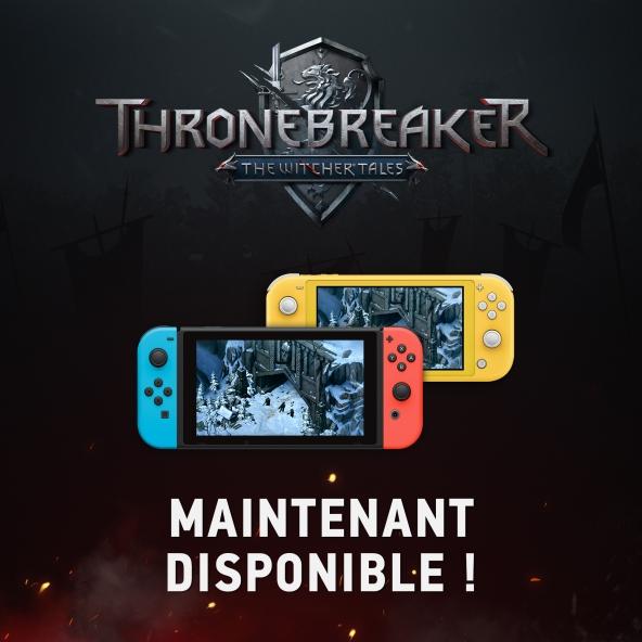 Thronebreaker: The Witcher Tales est désormais disponible sur Nintendo Switch !