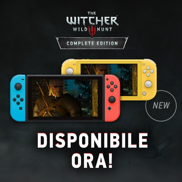 The Witcher 3 è ora disponibile su Nintendo Switch!