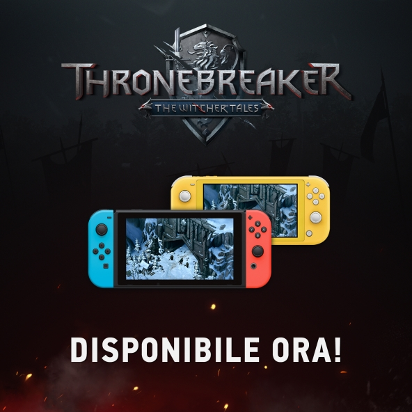 Thronebreaker: The Witcher Tales è ora disponibile su Nintendo Switch!