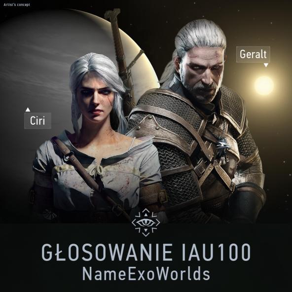 Nazwijmy planetę Ciri, a jej gwiazdę Geralt!