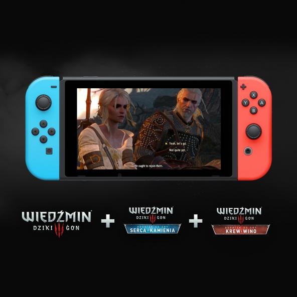 Wiedźmin 3 i dodatki dostępne oddzielnie na Nintendo Switch!